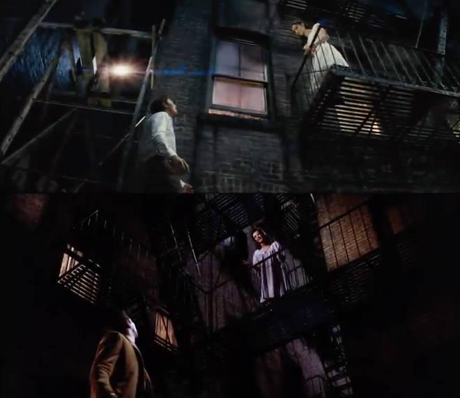 'Tonight' scene in West Side Story: 2021 vs 1961