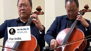 Cellist Yo-Yo Ma performs beautiful Bach in poignant tribute to lives lost to COVID-19 in India