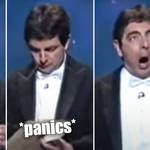 The time Rowan Atkinson forgot the words to Beethoven's 9th Symphony in hilarious skit