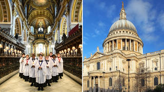 St Paul's Cathedral Choir sings in the historic London landmark
