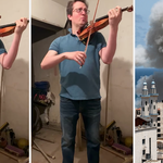 Amid rocket fire, violinist plays poignant Brahms in a bomb shelter during Israel-Gaza conflict