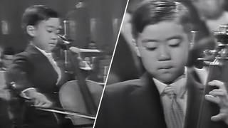 Cello prodigy Yo-Yo Ma plays for President J.F. Kennedy