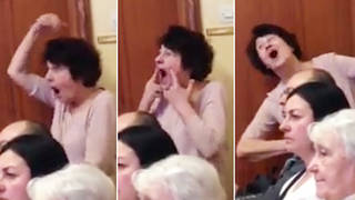 Music teacher caught trying to 'secretly' mime along to student's singing recital