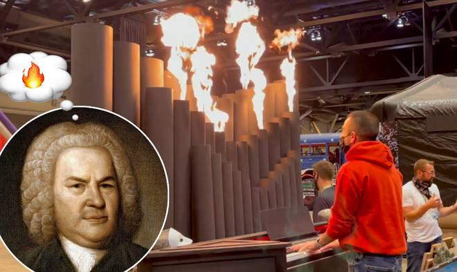 Bach on a fire organ