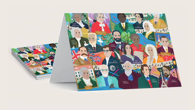 Limited Edition Classic FM 'Great Composer' charity cards