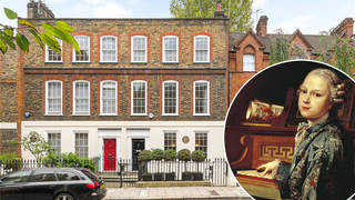 Mozart's former home, London