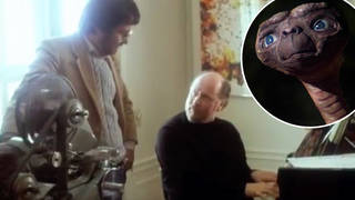 Steven Spielberg and John Williams compose music for E.T. together