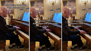 85-year-old viral TikTok pianist who is raising money for cancer charity has been diagnosed with the disease himself