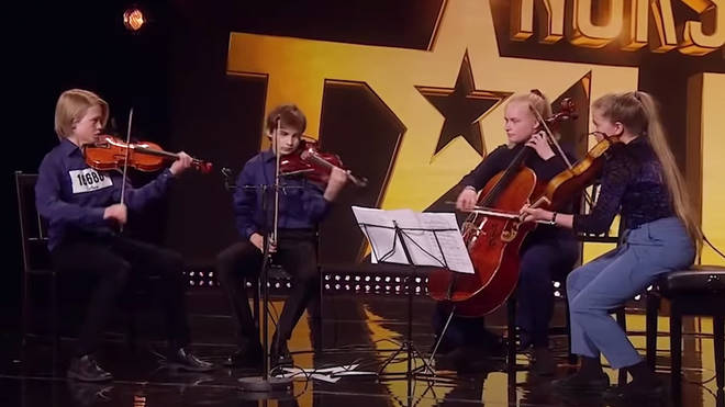 Young Norwegian quartet plays Shostakovich for talent show audition