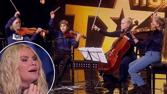 Judge reacts as string quartet Kvartett Saphir play Shostakovich on Norway's Got Talent