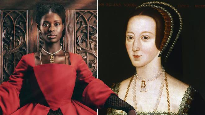 Anne Boleyn is played by Jodie Turner-Smith in Channel 5 TV series