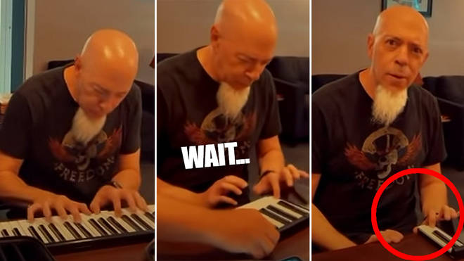 Pianist seamlessly plays rag as sections of his keyboard are removed one by one