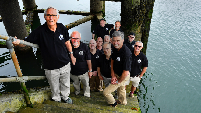 Choral singers greet G7 leaders in Cornwall with sea shanties