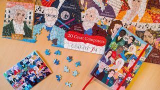 Order our limited edition 'Great Composers' jigsaw, notebook and greeting cards