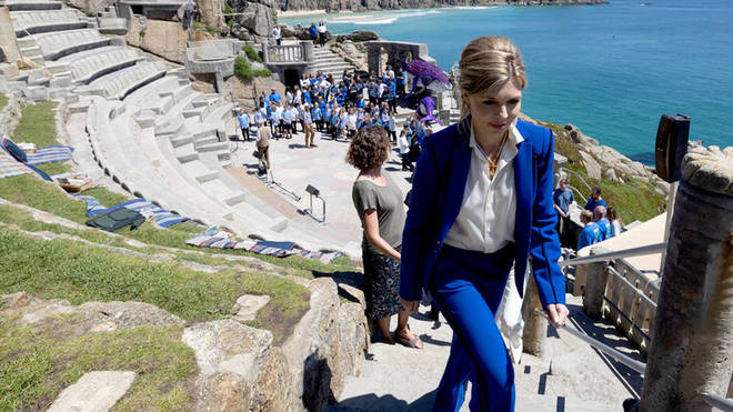 Carrie Johnson among G7 partners attending musical at Cornwall's Minack Theatre