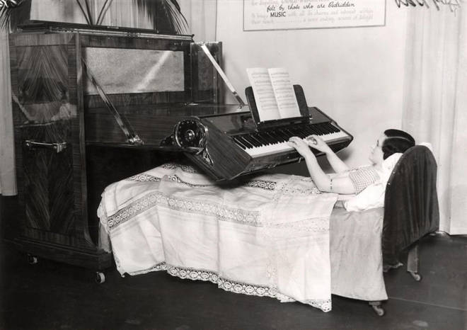 'Invalid piano' played by bedridden invalids is the bizarre invention of the day