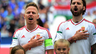 What are the lyrics to Hungary's national anthem 'Himnusz', and why was it banned from sporting events?