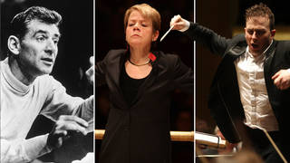 "LGBTQ+ conductors"" Leonard Bernstein, Marin Alsop and Yannick Nézet-Séguin"