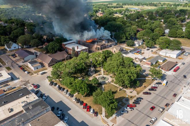 Dobson Pipe Organ Builders fire, Lake City, Iowa