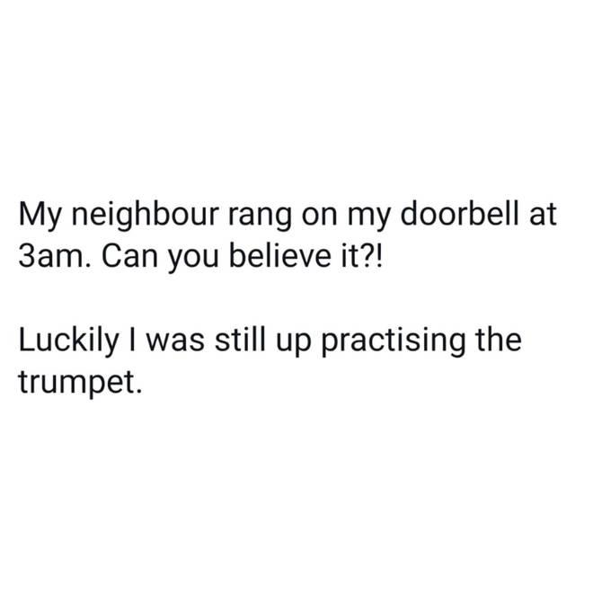 3am trumpet practice