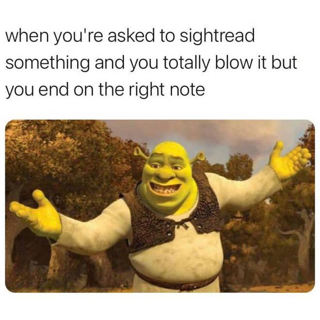 Shrek recital