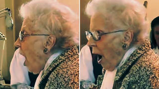 96-year-old soprano with crystal clear voice sings a miraculous 'Panis Angelicus'