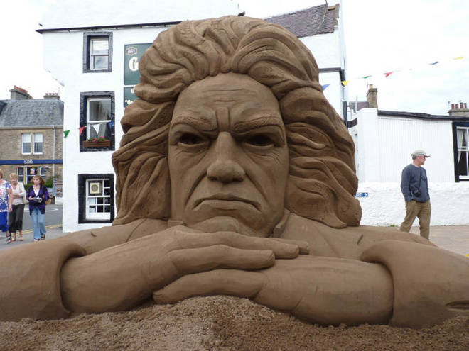 Beethoven sculpture at East Neuk Festival 'Sand in Your Eye'