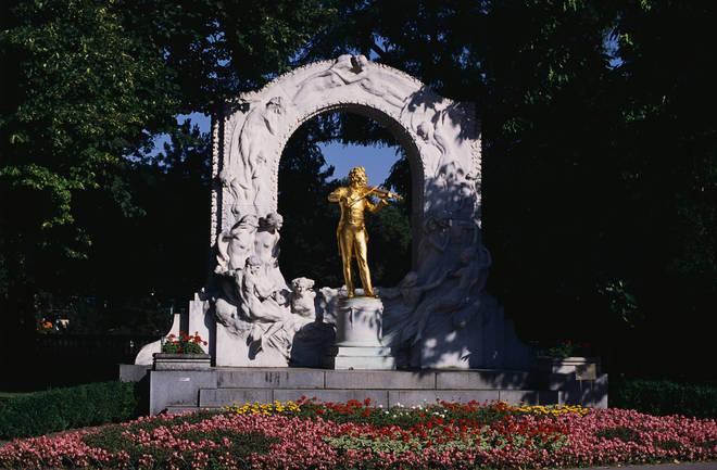 Johann Strauss Memorial by Edmund von Hellmer in Vienna