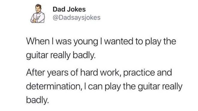 Playing guitar really badly