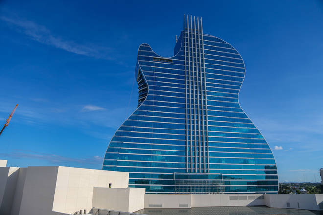 The Guitar Hotel is part of Seminole Hard Rock Hotel & Casino.