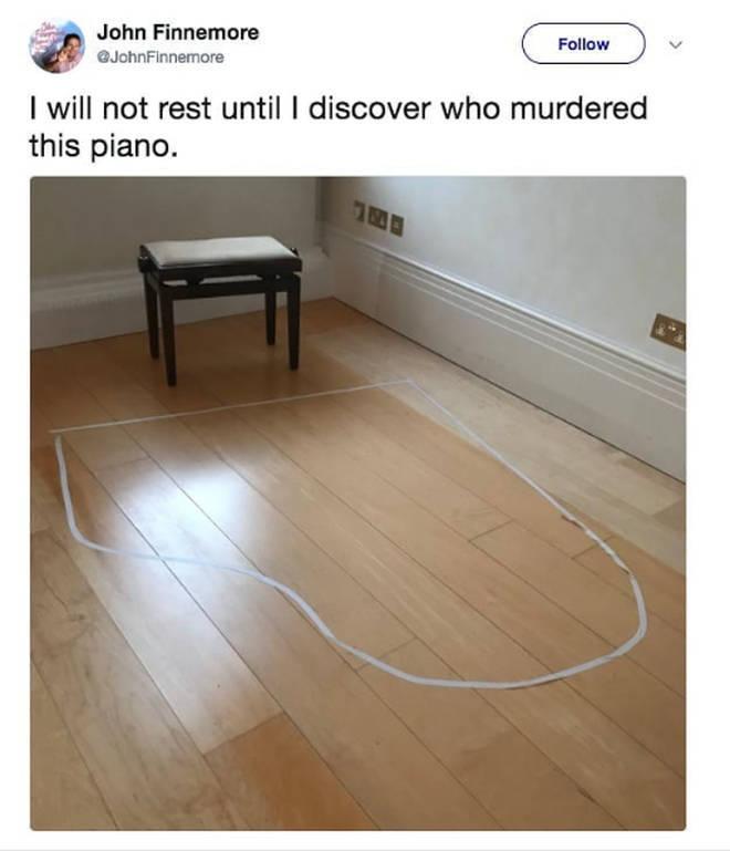 Murdered piano