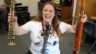 Estelle Jackson takes nine exams on nine instruments in one day