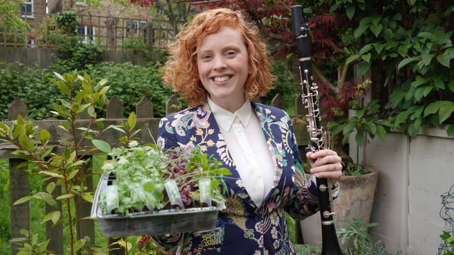 Meet clarinettist Jessie Grimes and her veg patch series bringing chamber music back to its natural roots