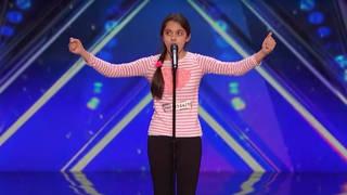 Laura Bretan sings on America's Got Talent in 2016