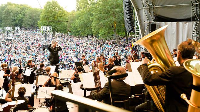 Klassiker unter freiem Himmel im August 2018 mit den Nürnberger Symphonikern