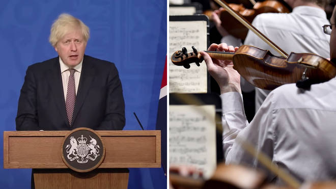 What are the rules at classical music concerts from 19 July, following Boris Johnson's announcement?