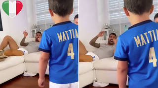 Footballer sings Italy's national anthem as he rests ruptured Achilles tendon