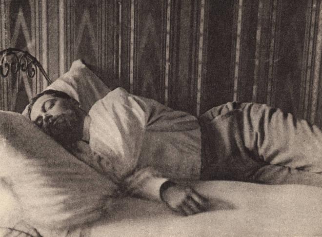Claude Debussy having a nap