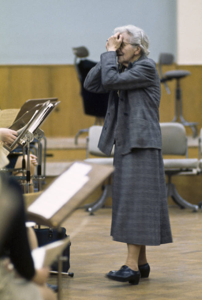 French composer and conductor Nadia Boulanger, exasperated. (1976)