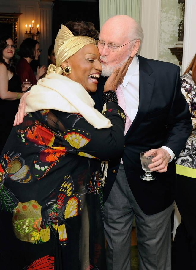 Opera legend Jessye Norman and film maestro John Williams share a moment at Williams' 80th Birthday Tribute (2012)