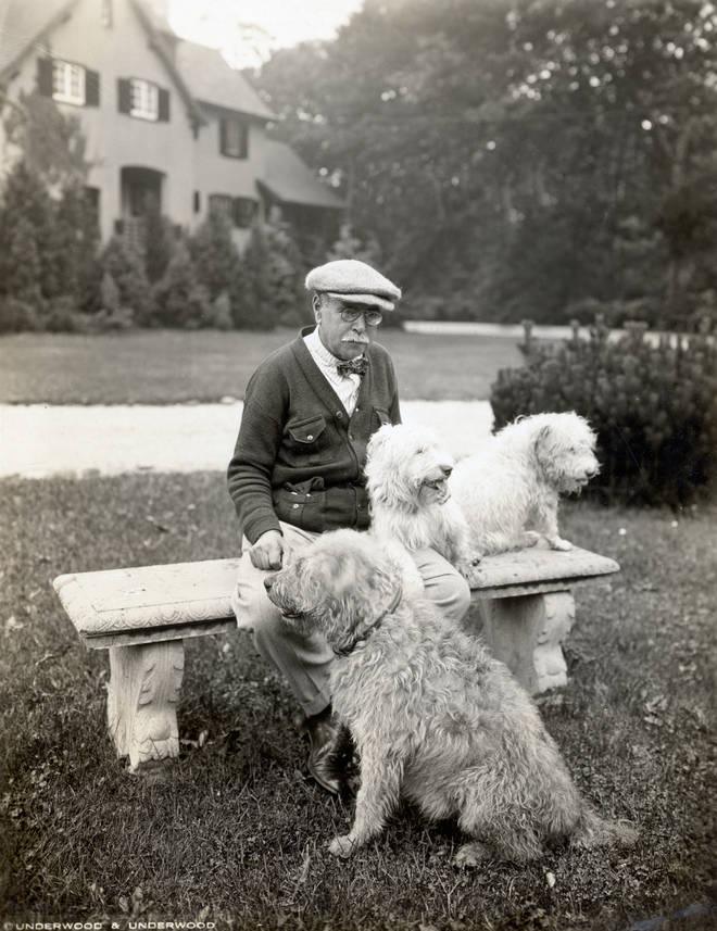 "US composer John Philip Sousa among his four-legged ""musical friends"""