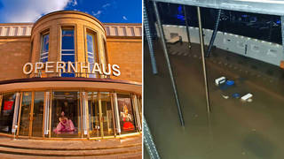 Opera house in Germany under water as floods cause 'considerable damage'