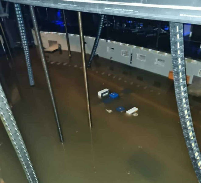 Wuppertal Opera House's orchestra pit is under water after flooding in western Germany