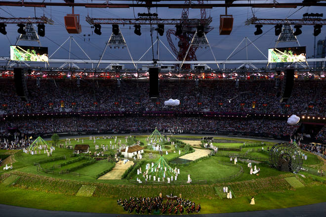 London Symphony Orchestra performs during the Opening Ceremony of the London 2012 Olympic Games
