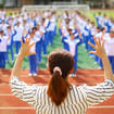 Students with hearing impairment perform China's national anthem in sign language in Haikou