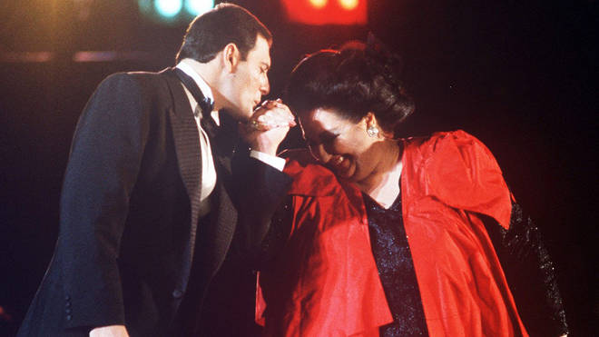 Freddie Mercury and Montserrat Caballe in concert at the official launch of Spain's Cultural Olympiad