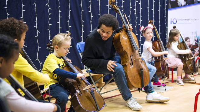 Sheku took part in two workshops at Prior Weston Primary School