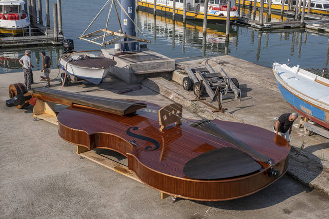 The violin boat that will be launched in September