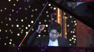 Lang Lang plays piano in Beijing, 2020