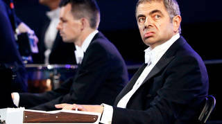 Rowan Atkinson, Mr Bean, performs during the opening ceremony of the London 2012 Olympic Games at the Olympic Stadium July 27, 2012.